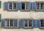Zurich Prints - Zurich Window Shutters Print by Lauri Novak