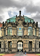 Historic Prints - Zwinger Dresden - Carillon Pavilion - Caution fragile Print by Christine Till