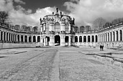 Building Framed Prints - Zwinger Dresden Rampart Pavilion - Masterpiece of Baroque architecture Framed Print by Christine Till