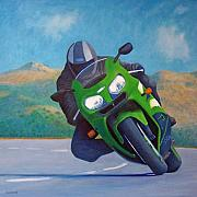 Riding Originals - ZX9 - California Dreaming by Brian  Commerford