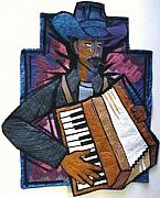 Musicians Tapestries - Textiles - Zydeco by Carolyn Crump
