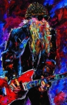 Zz Top Billie Gibbons Print by Debra Hurd