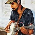 Banjo Player by John W Walker