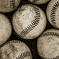 Baseballs Print by Diane Diederich