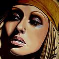 Christina Aguilera Print by Paul Meijering
