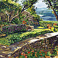 Garden Stairway by David Lloyd Glover