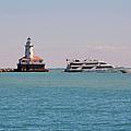 Historical Chicago Harbor Light by Christine Till