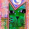House Of Cats Series - Moon Cat by Moon Stumpp