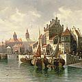 Kieler Canal Print by August Siegen