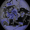 Leif Erickson and Cameron Mitchell  The High Chaparral Old Tucson Arizona 1969 Print by David Lee Guss