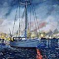 Newport Beach Harbor 4th Of July by John Leclerc