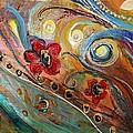 Original Painting Fragment 10 by Elena Kotliarker