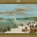 Portage Around The Falls Of Niagara At Table Rock by George Catlin