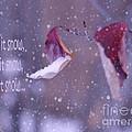 Purple Winter Print by Irina Wardas
