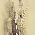 The Minaret Of The Mosque Of El Rhamree by David Roberts
