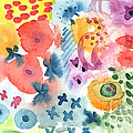 Watercolor Garden Print by Linda Woods