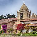 Facade Of The Chapel Mission San Carlos Borromeo De Carmelo by Ken Wolter