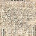 1710 First Japanese Buddhist Map Of The World Showing Europe America And Africa by Paul Fearn