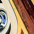 1950 Ford Custom Deluxe Woodie Station Wagon Wheel by Jill Reger