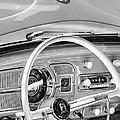 1962 Volkswagen Vw Beetle Cabriolet Steering Wheel by Jill Reger