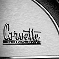 1967 Chevrolet Corvette Glove Box Emblem by Jill Reger
