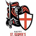 A Day For England Happy St George Greeting Card by Aloysius Patrimonio