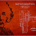 Albert Einstein Patent Drawing from 1930 Print by Aged Pixel