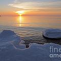 An Icy  Superior Sunrise by Sandra Updyke