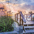Bicycle At The Beach by Debra and Dave Vanderlaan