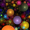 Billions of Bubbles Print by Peggi Wolfe