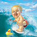 Born to Surf Print by Mark Fredrickson