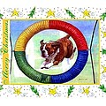 Boxer Dog Christmas by Olde Time  Mercantile