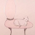 Cat On A Vanity Chair by Christine Corretti