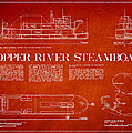 Copper River Steamboats Blueprint by Aged Pixel