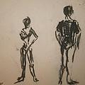 Dancing  Print by ELENA SVOBODINA