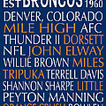 Denver Broncos by Jaime Friedman