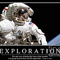 Exploration Inspirational Quote by Stocktrek Images