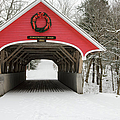 Flume Covered Bridge - White Mountains New Hampshire Usa by Erin Paul Donovan