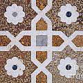 Geometric Designs On The Baby Taj Agra by Robert Preston