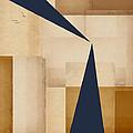 Geometry Indigo Number 5 by Carol Leigh