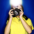 Girl Photographer Print by Lane Erickson