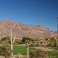 Gold Canyon Arizona Golf Print by Michael J Bauer