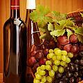 Grape Wine Still Life by Anna Omelchenko