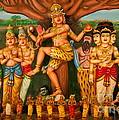 Hindu God Print by Niphon Chanthana