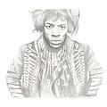 Jimi Hendrix by Don Medina