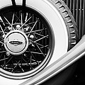 Lincoln Spare Tire Emblem Print by Jill Reger