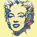 Marilyn Monroe Stylised Pop Art Drawing Sketch Poster by Kim Wang