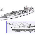 Merchant Marine Conceptual Drawing by Jack Pumphrey