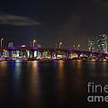 Miami Night Skyline by Andres Leon