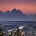 Misty Teton Sunset by Andrew Soundarajan